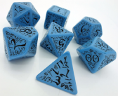 Blue & Black Elven Dice Set